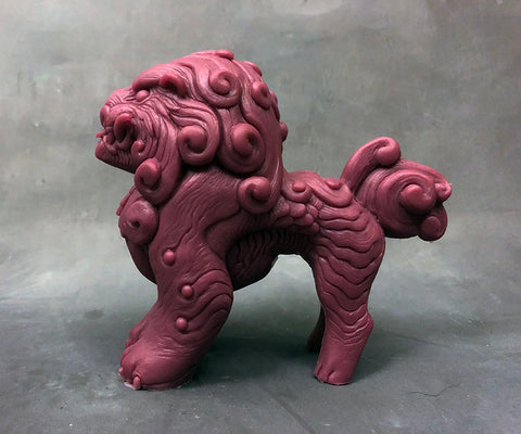 FOO DOG BLEP FIGURE- PLUM- *PRE-ORDER! SHIPS IN MARCH*