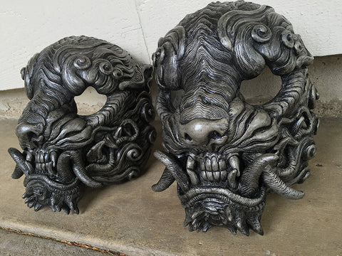 "CAST URETHANE ""FAUX SILVER"" SENTINEL MASK"