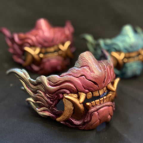 SNARL HALF MASK- PAINTED