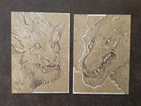 BALLPOINT PEN ILLUSTRATIONS ON KRAFT BOARD