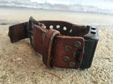 DIESEL DIGITAL WATCH WITH CUSTOM LEATHER BAND