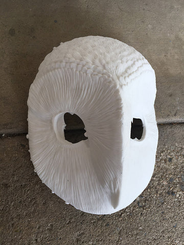 DIY WHITE CAST OWL MASK- READY TO SHIP
