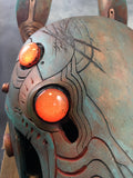 BATTLE DAMAGED ANUBOT HEADDRESS- LED LIGHT UP AND UV REACTIVE EYES