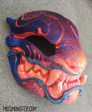 BURNING EMBER UV REACTIVE ORNATE PANTHER MASK