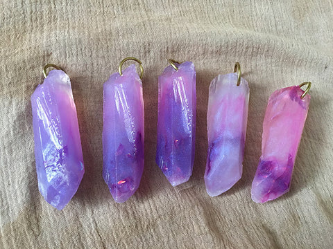 CAST CRYSTAL PENDANTS- FAE PURPLE
