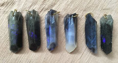 CAST CRYSTAL PENDANTS- STORM BORN