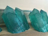 CAST CRYSTAL WALL SCONCE- TEAL