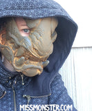 READY TO SHIP PANTHER MASK- PATINA COPPER