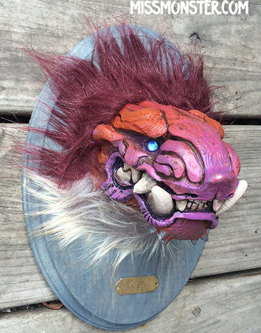 WALL MOUNTED CAST TAXIDERMY HEAD- RED