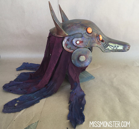 ANUBOT HEADDRESS-  BATTLE DAMAGED DESERT FOX