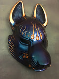 PAINTED FOX MASK- IRIDESCENT COLOR CHANGE WITH GOLD ACCENTS