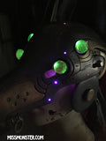 ANUBOT- IRIDESCENT RUST HEADDRESS WITH LIGHT UP EYES