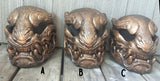 OLD COPPER FINISH- READY TO WEAR PANTHER MASK