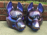 FOX MASK- IRIDECENT PURPLE WITH GOLD ACCENTS