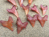 CAST URETHANE SHARK TOOTH PENDANT- SUNSET ORANGE