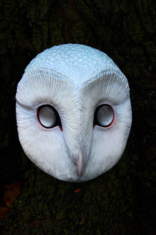 GHOST OWL - PAINTED AND FINISHED MASK