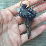 ANTLER AND QUARTZ PENDANT