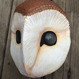 BARN OWL MASK- PAINTED AND FINISHED