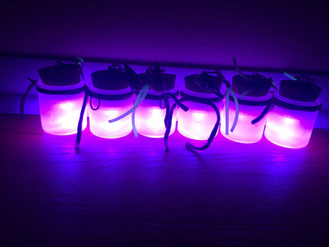 GLOW IN THE DARK, LIGHT UP JAR- PURPLE