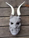 KRAMPUS MASK WITH GLOW IN THE DARK HORNS