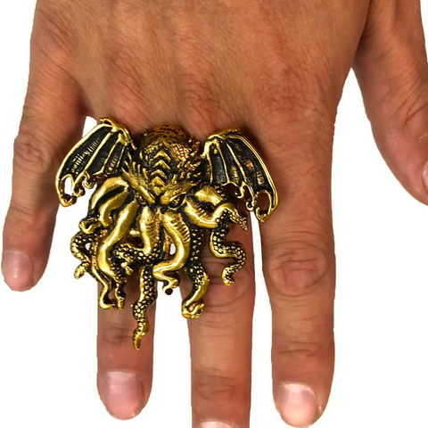 CTHULHU RING - DOUBLE FINGER (BRASS)