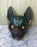 PAINTED AND FINISHED CAT SKULL MASK