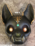 FINISHED READY TO WEAR CAT SKULL MASK