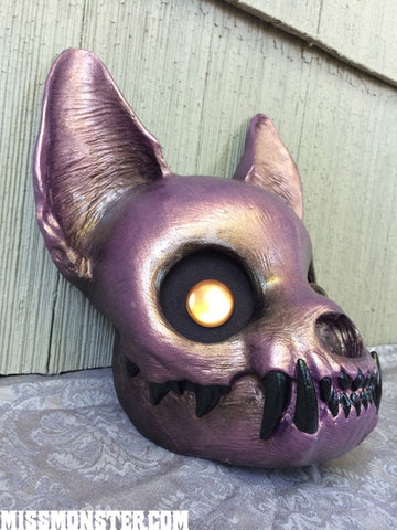 FINISHED READY TO SHIP CAT MASK- METALLIC FLESH