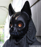 FINISHED READY TO SHIP CAT MASK- SOLAR FLARE
