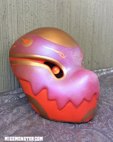 FINISHED AND READY TO SHIP- RED AND GOLD CHOMPY
