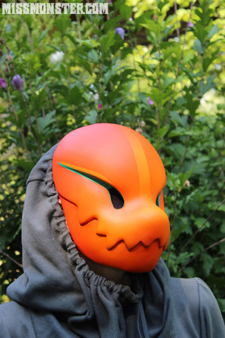 "CHOMPY ""SUNSET""- PAINTED, READY TO WEAR LIMITED EDITION MASK"