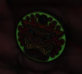 DOORKNOCKER METAL TAG- GLOWS!