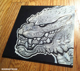 GODZILLA ORIGINAL INK DRAWING- GRIN