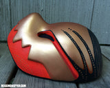 CHOMPY MASK- FINISHED READY TO SHIP- RED GOLD