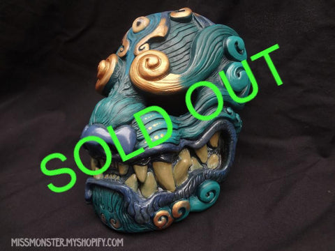 Copy of PAINTED GREEN KOMAINU MASK