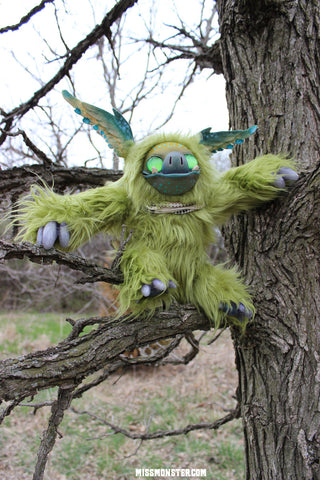 LIME THE PORKBAT- OOAK DOLL