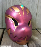 CHOMPY MASK- FINISHED READY TO SHIP- METALLIC PURPLE