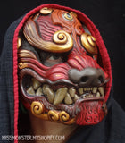 DELUXE PAINTED RED KOMAINU MASK