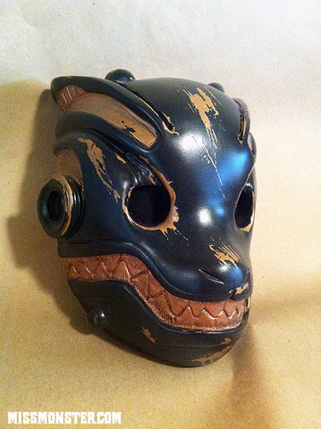 ROBO FOX BATTLE DAMAGE MASK WITH GREEN LEDs- COPPER
