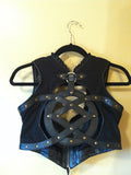 "SEFIRAH FIERCE ""OZ"" LEATHER VEST SIZE M BLACK"