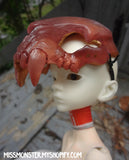 BJD SABERTOOTH SKULL MASK- BONE OR GOLD RED