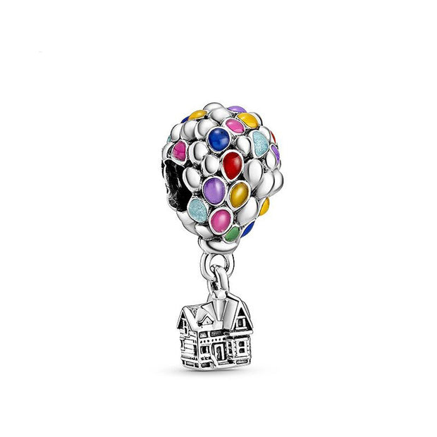 Up Inspired Balloon House Charm For Bracelet Or Necklace In Sterling Silver
