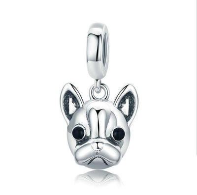 French Bulldog Charm For Bracelet Or Necklace In 925 Sterling Silver