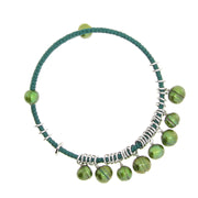 Green Colored Fresh Water Honora Pearl Bangle Stainless Steel Bracelet