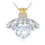 Crown Queen Bee Sterling Silver Statement Pendant