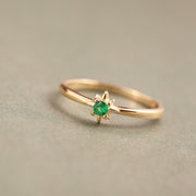 North Star 18K Zirconium Gold Plated Sterling Silver Ring