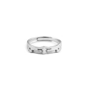 Prince Knight Matching Couples Promise Sterling Silver Adjustable Rings