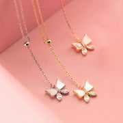 butterfly lariat 18k gold plated 925 sterling silver rhodium rose gold plated cubic zirconia necklace