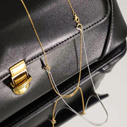 multiple 3 style detachable lariat double chain 18k gold plated 925 sterling silver dainty necklace