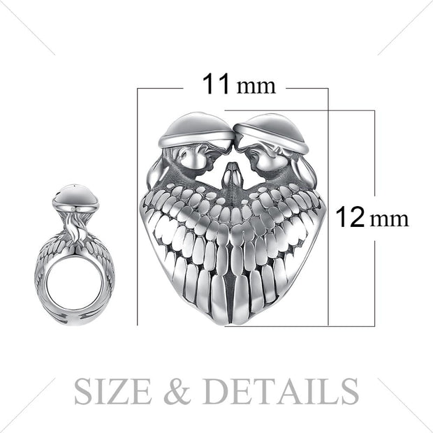 Sterling Silver Guardian Angel Wings Charm Beads
